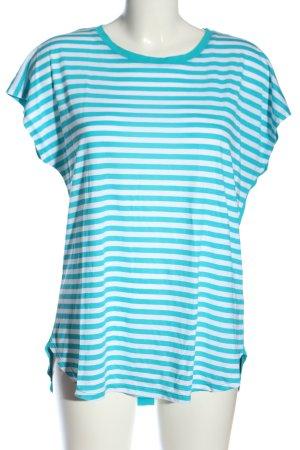 Laura Torelli Ringelshirt blau-weiß Streifenmuster Casual-Look