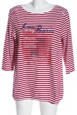 Laura Torelli Koszulka w paski Wydrukowane logo W stylu casual