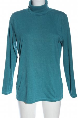 Laura Torelli Rollkragenshirt blau meliert Elegant