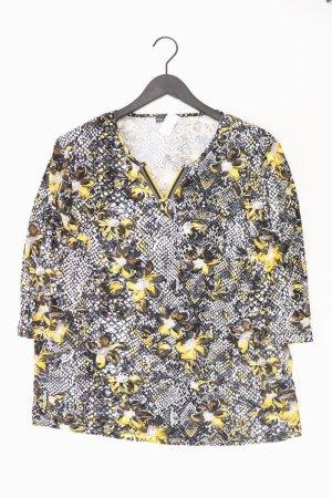 Laura Torelli Shirt mit V-Ausschnitt Größe XL 3/4 Ärmel gelb aus Viskose