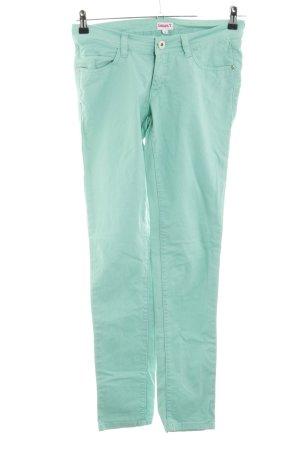 Laura Torelli Skinny Jeans türkis Casual-Look