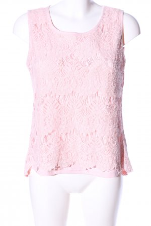 Laura Torelli Spitzenbluse pink Casual-Look