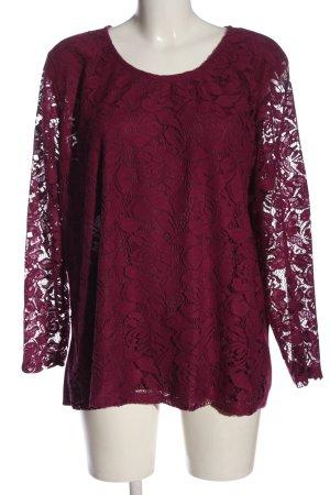 Laura Torelli Koronkowa bluzka różowy W stylu casual