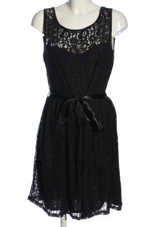 Laura Torelli Spitzenkleid schwarz Elegant