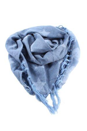 Laura Torelli Stola blauw volledige print casual uitstraling