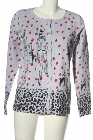 Laura Torelli Knitted Cardigan allover print casual look