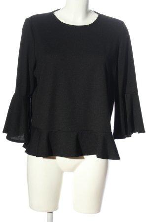 Laura Torelli Fine Knit Jumper black casual look