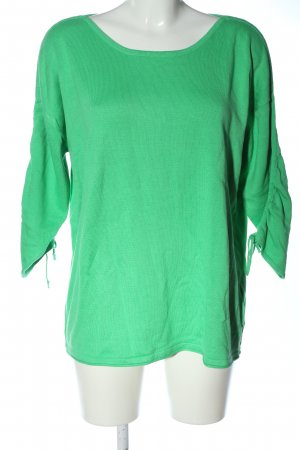 Laura Torelli Strickpullover grün Casual-Look
