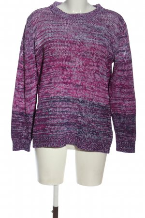 Laura Torelli Knitted Sweater allover print casual look