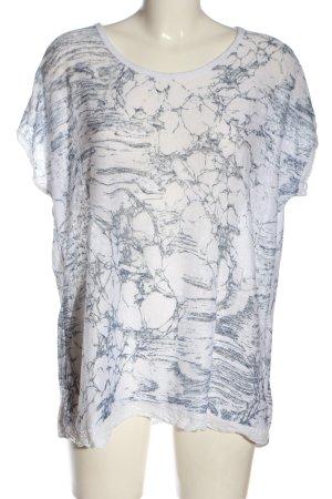 Laura Torelli Strickshirt weiß-hellgrau abstraktes Muster Casual-Look