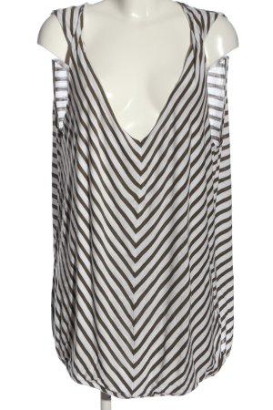 Laura Torelli Haut tricotés brun-blanc imprimé allover style décontracté