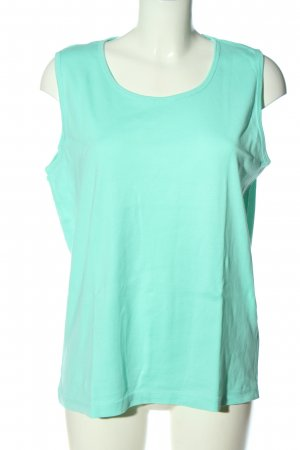 Laura Torelli Knitted Top turquoise casual look
