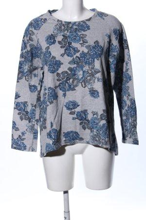 Laura Torelli Sweatshirt blauw-lichtgrijs volledige print casual uitstraling