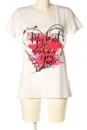 Laura Torelli T-Shirt Motivdruck Casual-Look