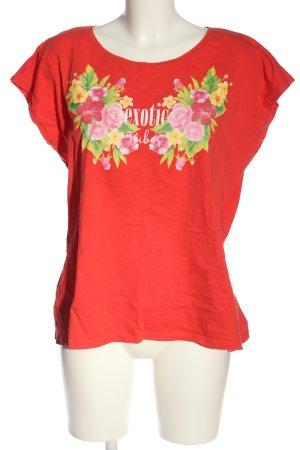 Laura Torelli T-Shirt rot Motivdruck Casual-Look