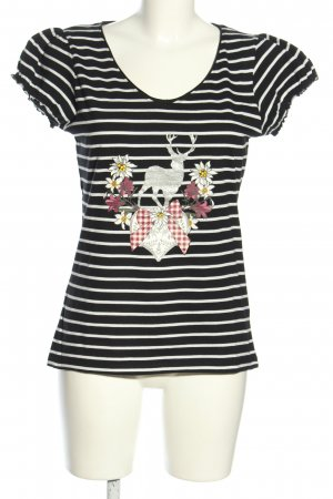 Laura Torelli T-Shirt schwarz-weiß Motivdruck Casual-Look