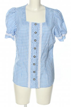 Laura Torelli Traditional Blouse blue-white allover print classic style