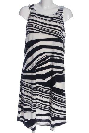 Laura Torelli Trägerkleid weiß-schwarz abstraktes Muster Casual-Look
