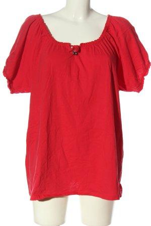Laura Torelli U-Boot-Shirt rot Casual-Look