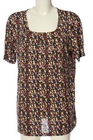 Laura Torelli U-Boot-Shirt Allover-Druck Casual-Look