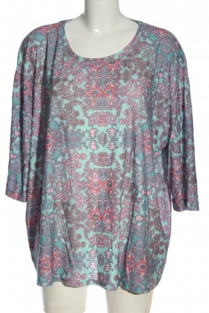 Laura Torelli U-Boot-Shirt abstraktes Muster Casual-Look
