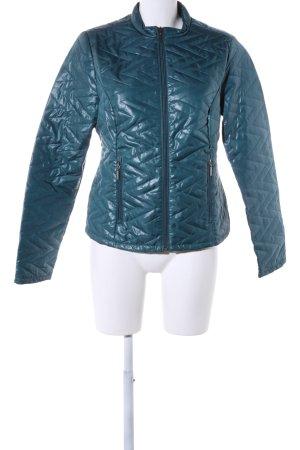 Laura Torelli Übergangsjacke blau Steppmuster Casual-Look