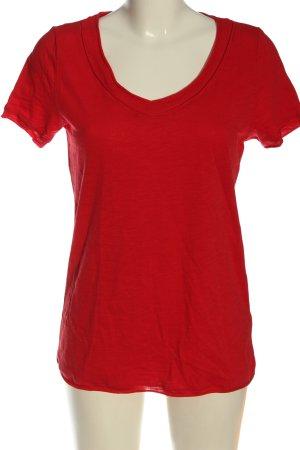 Laura Torelli V-Neck Shirt red elegant