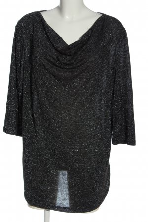 Laura Torelli Cowl-Neck Shirt black elegant
