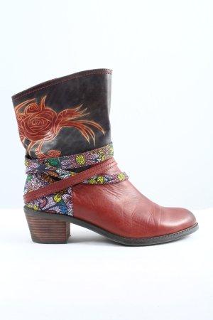 Laura Vita Western Laarzen rood-blauw bloemenprint casual uitstraling