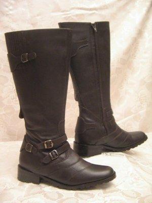 LauraB Leder Stiefel Boots Größe 37 Braun