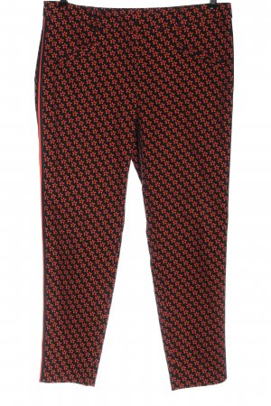 Laurèl 7/8 Length Trousers black-red allover print casual look