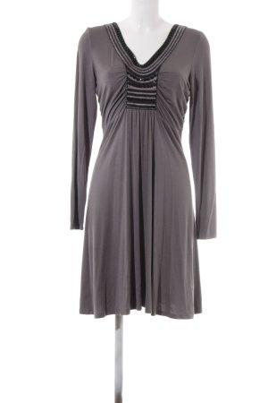 Laurèl A Line Dress grey-black silk