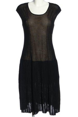 Laurèl A-Linien Kleid schwarz-wollweiß Casual-Look