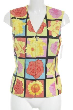 Laurèl ärmellose Bluse Blumenmuster extravaganter Stil