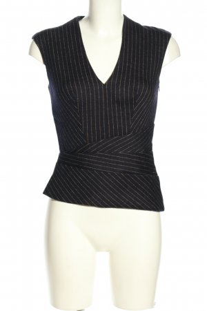 Laurèl Waistcoat black-gold-colored striped pattern casual look