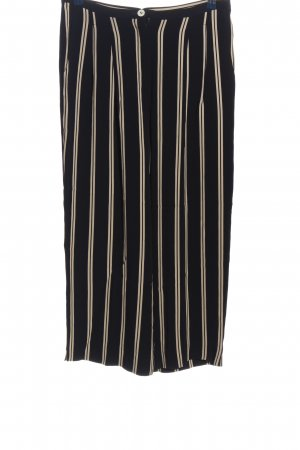 Laurèl Baggy Pants black-white striped pattern casual look
