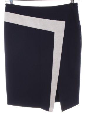 Laurèl Bleistiftrock blau-wollweiß Business-Look
