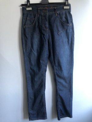 Laurèl Jeans boyfriend bleuet coton