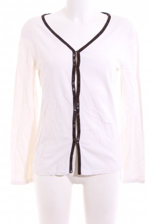Laurèl Cardigan weiß-schwarz Casual-Look