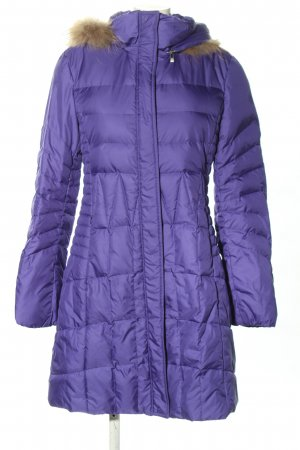Laurèl Down Coat lilac quilting pattern casual look