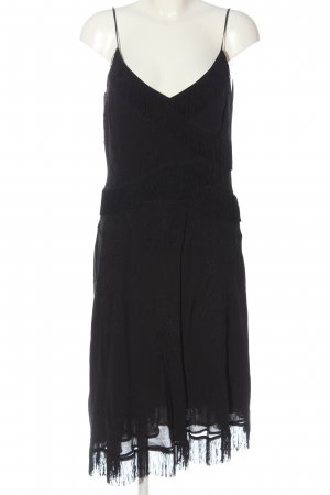 Laurèl Fringed Dress black casual look