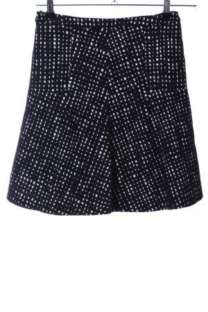 Laurèl Glockenrock schwarz-weiß abstraktes Muster Casual-Look