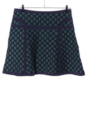 Laurèl Flared Skirt khaki-blue spot pattern casual look