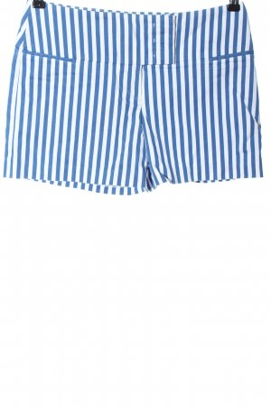 Laurèl Hot Pants blue-white striped pattern casual look