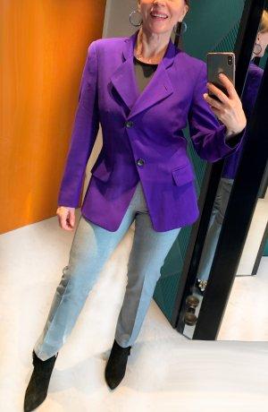 Laurèl Blazer de lana violeta oscuro Lana