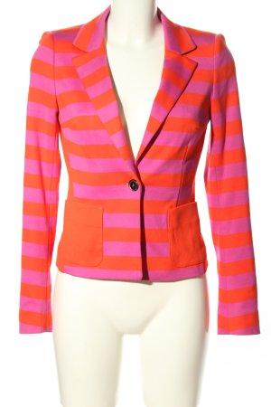 Laurèl Jersey blazer licht Oranje-roze gestreept patroon casual uitstraling