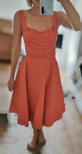 Laurel Kleid Midikleid orange beige Gr. 34