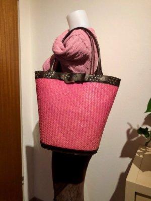 Laurèl Bolso tipo cesta rojo amarronado-magenta