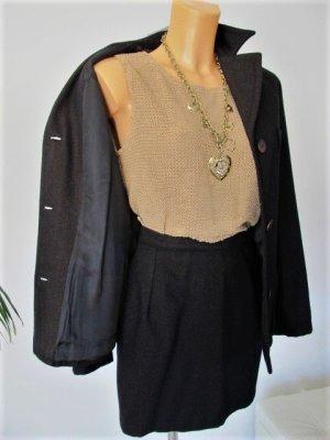 Laurèl Kostüm Wolle dunkelbraun mit bronzefarbenen Fäden Gr.36 NP ca. 600,-€ !