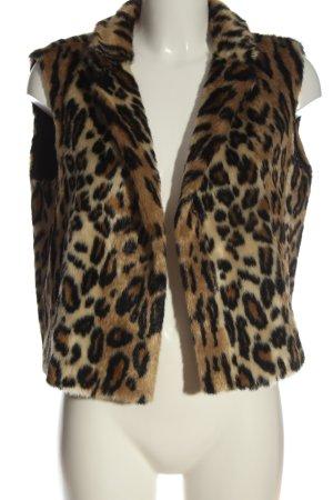 Laurèl Fake Fur Vest animal pattern elegant